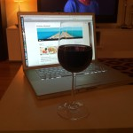Kos: Et glass med rødvin.