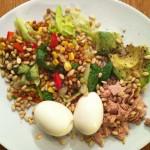 Lunsj: Egg, salat, avokado