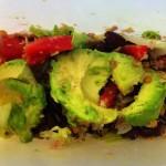 Lunsj: Tunfisk, Salat, Kidneybønner, Avokado.